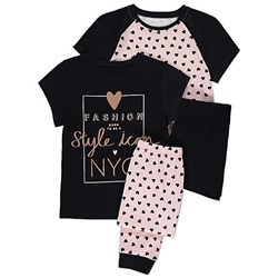 2 Pack Heart Print Pyjamas