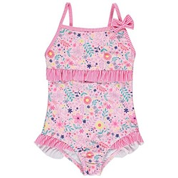 Ruffled Floral Swimsuit