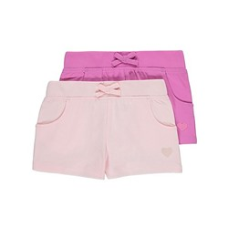 2 Pack Embroidered Jersey Shorts